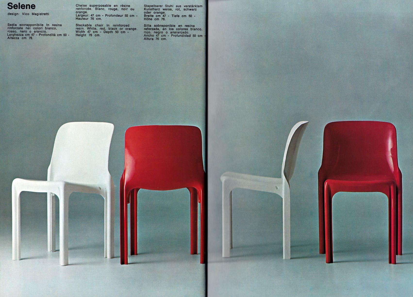 Sedie Gavina ~ Selene stackable chair artemide by vico magistretti artemide