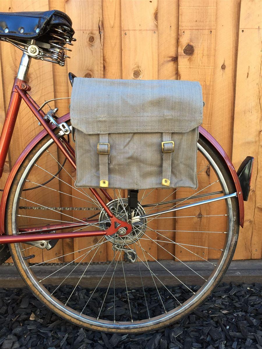 British Military Surplus M37 Haversack Vintage Bicycle Pannier 1950 S Bicycle Panniers Pannier Haversack