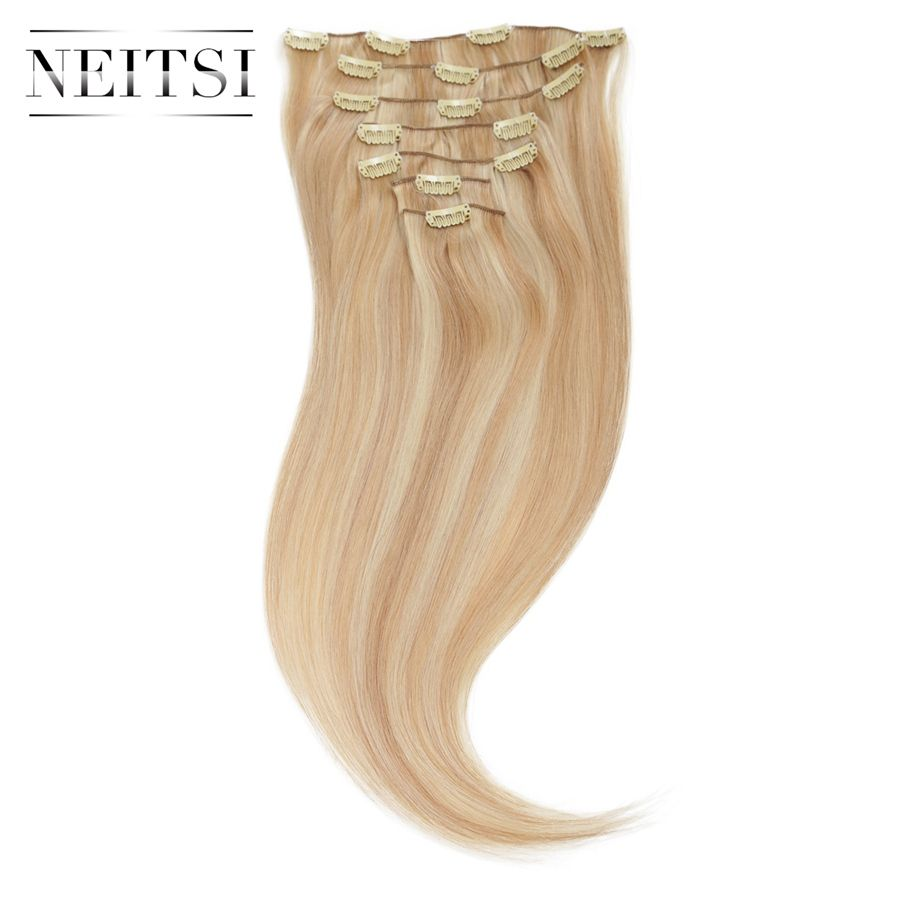 Neitsi natural brazilian virgin remy hair clip in human hair