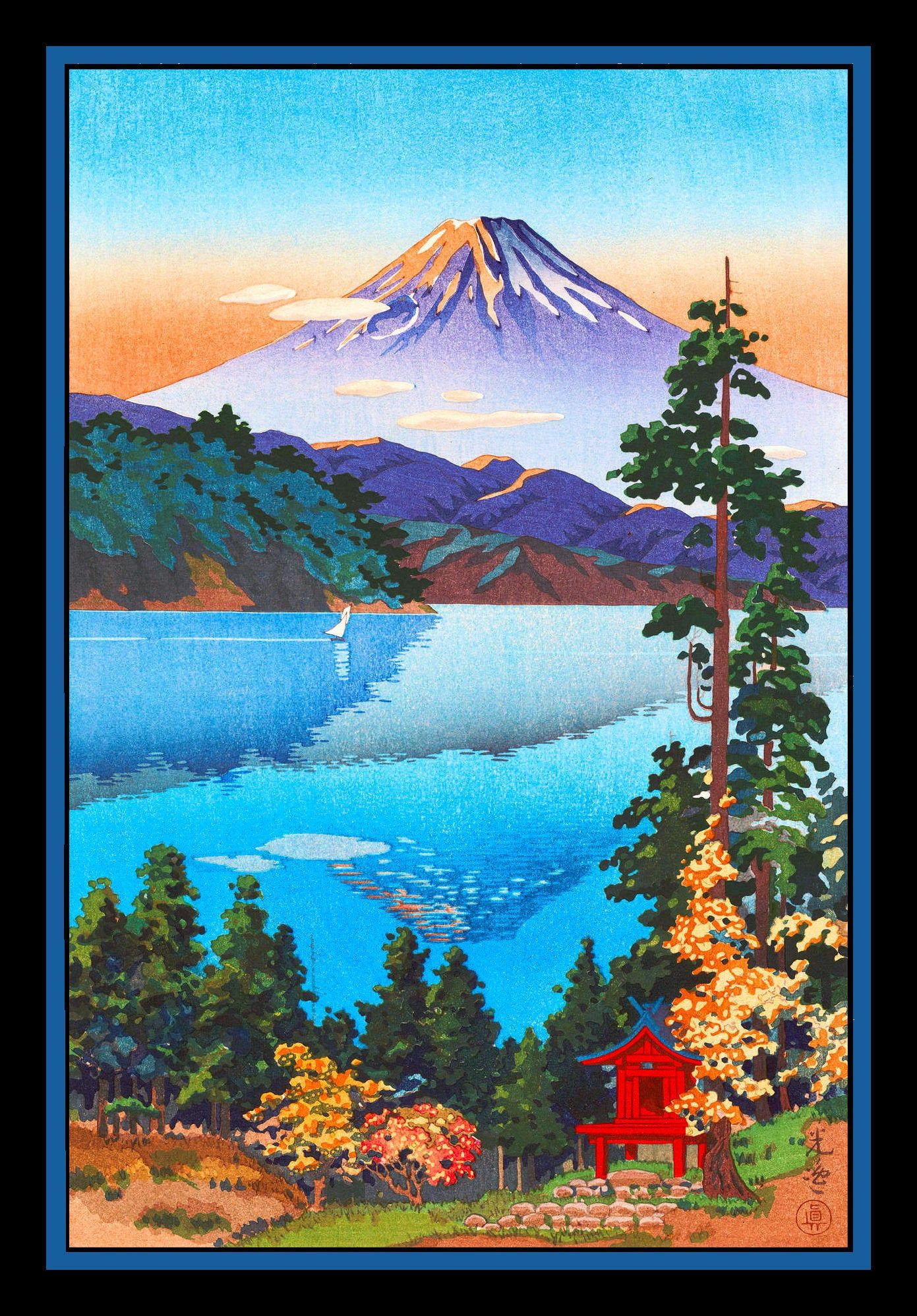 Snow Capped Mountain in Japan Refrigerator Magnet