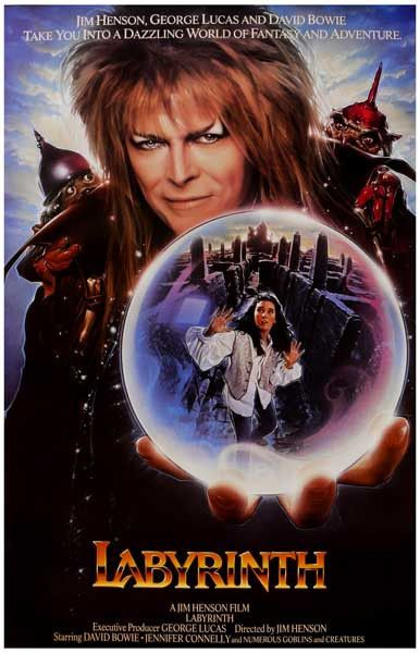 A great poster from Muppet-eer Jim Henson's fantastic ... Labyrinth 1986 Poster