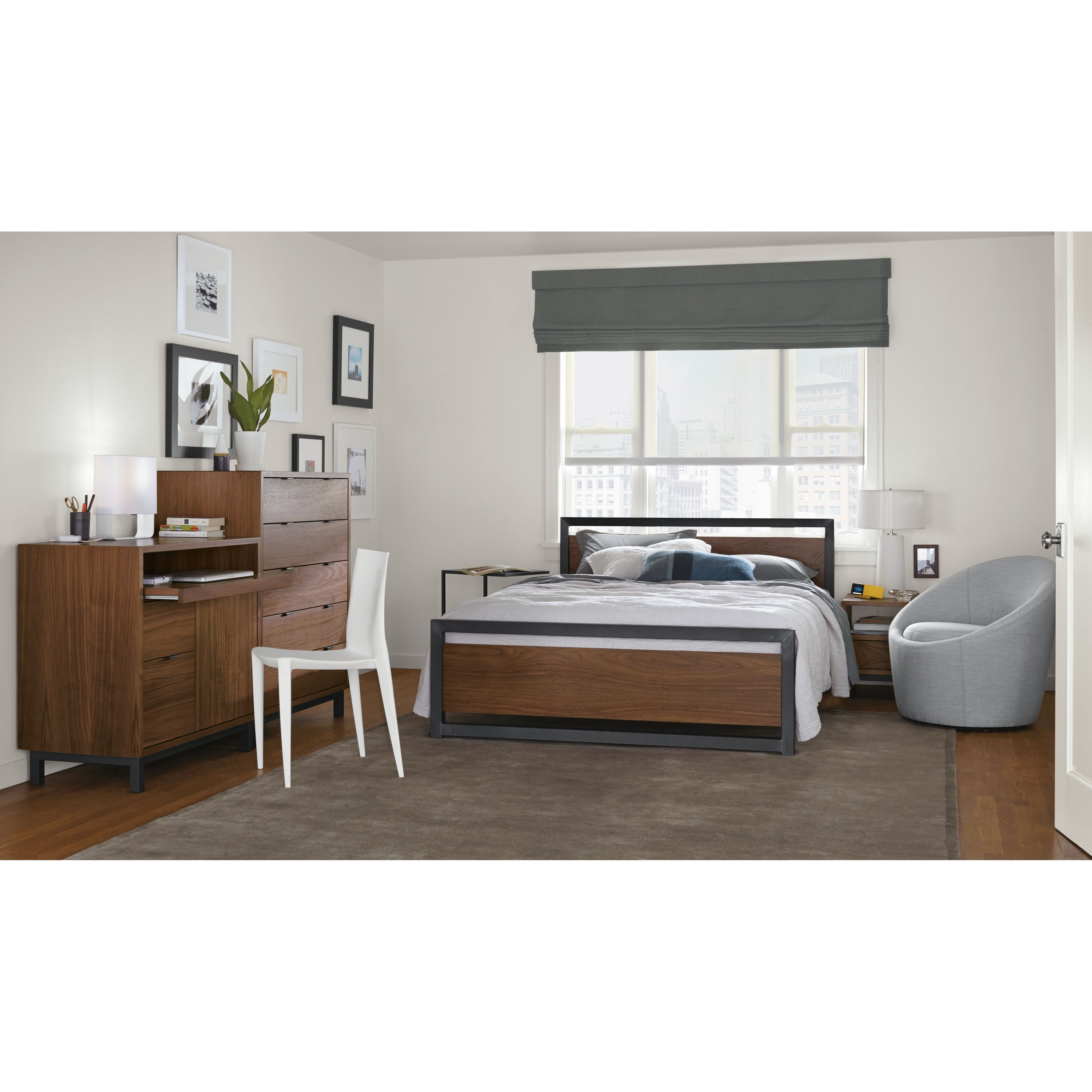 Room & Board | Piper Wood Panel Bed in Natural Steel ...
