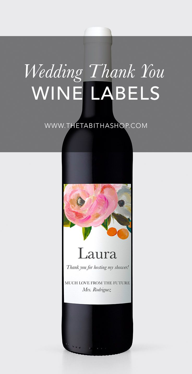 don t forget to show the love to your hostess this custom wine