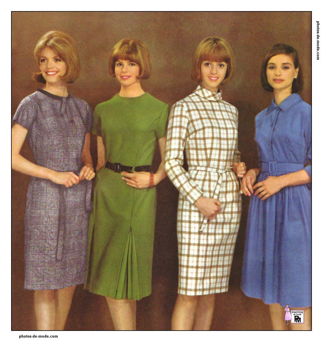 mode ann es 60 1964 vintage dress 60 39 s mode mode. Black Bedroom Furniture Sets. Home Design Ideas
