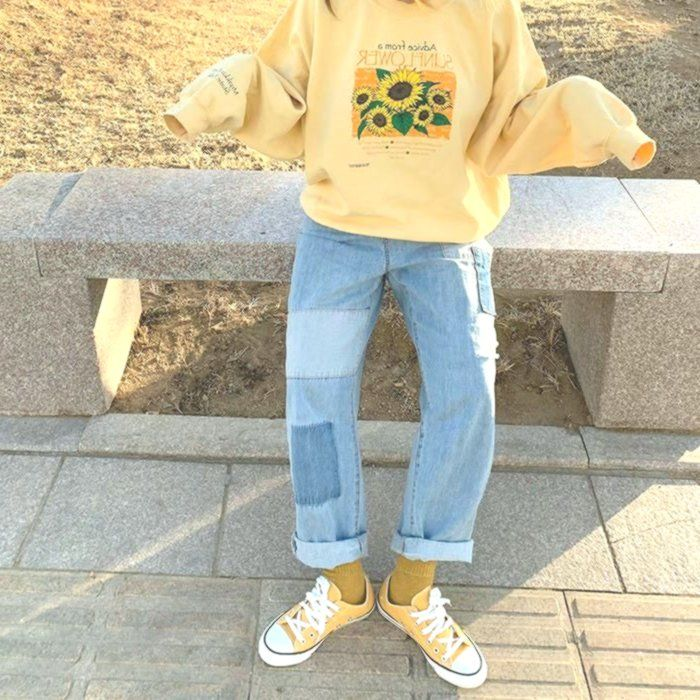 Sunflower Sweatshirt Aesthetic Clothing Sunflower Shirt | Etsy