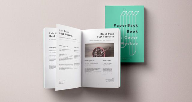 Enjoy a nice week with this Paperback Book Free PSD MockUp It - free booklet template