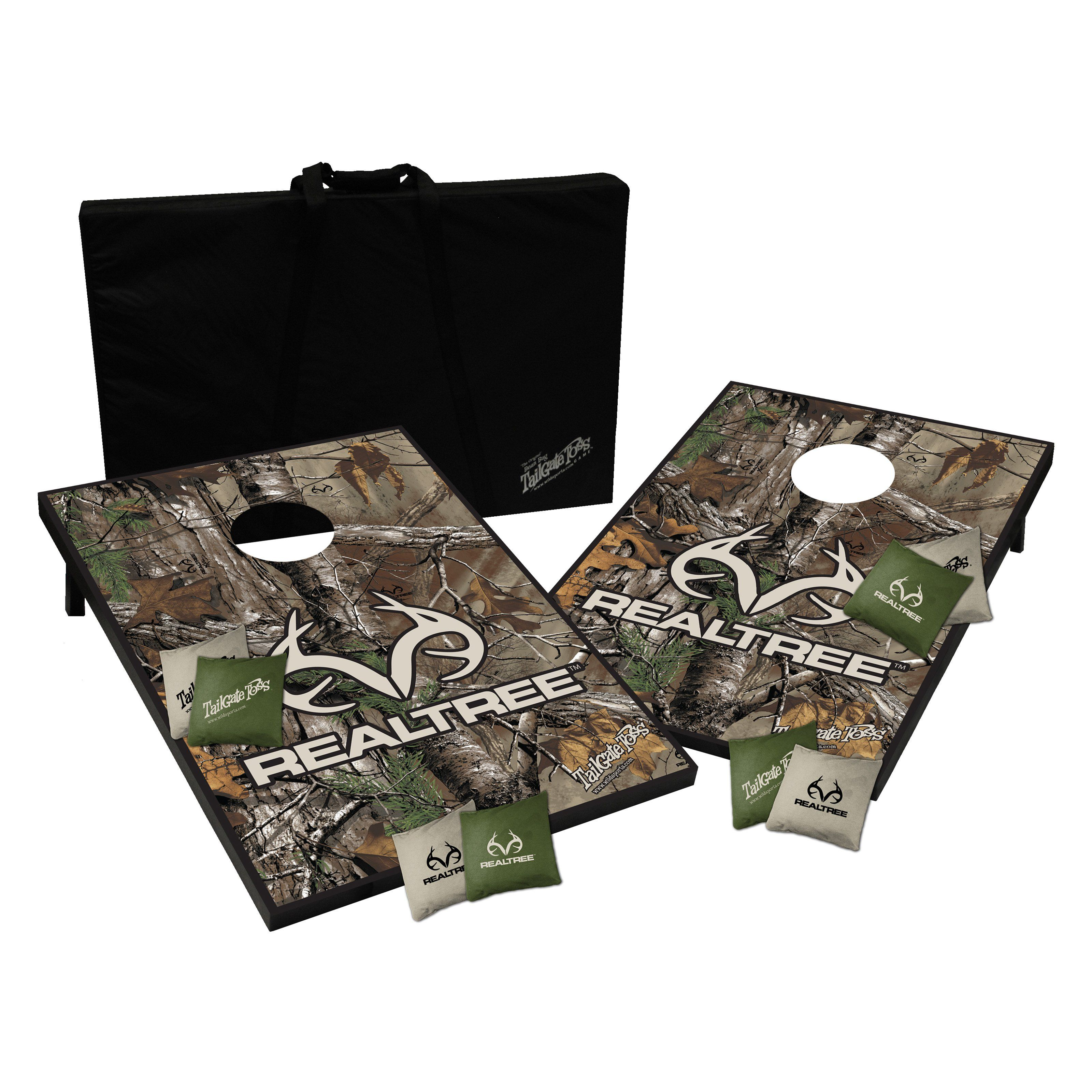Have to have it. Realtree Camo Tailgate Toss Cornhole Set - $87 @hayneedle