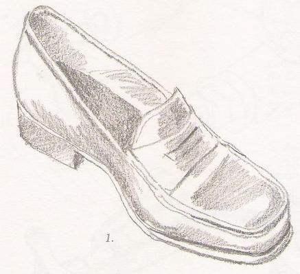 Topuklu Ayakkabi Cizimleri Cizim Kara Kalem Portre