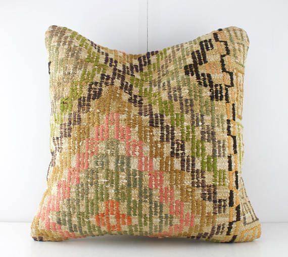 Kilim Pillow Kilim Pillow Cover Turkish Pillow Decorative Pillows