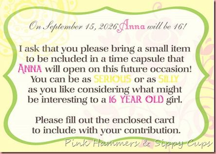 get a shower sample sign to put up at your baby time capsule theme baby shower