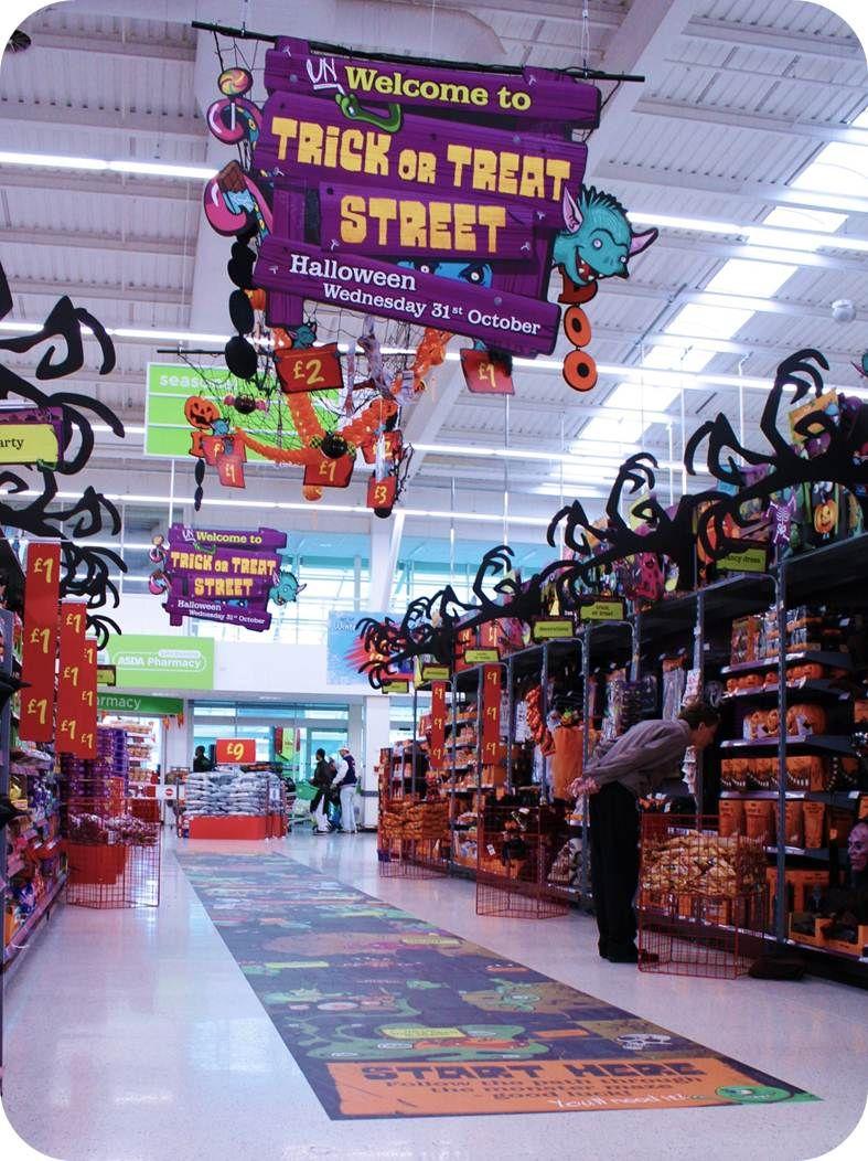 Halloween at Asda Ruck Halloween displays, Retail