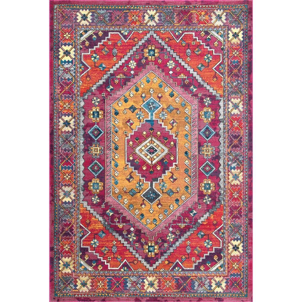 Nuloom Vintage Stella Pink 7 Ft 10 In X 10 Ft 10 In Area Rug Red Area Rug Area Rugs