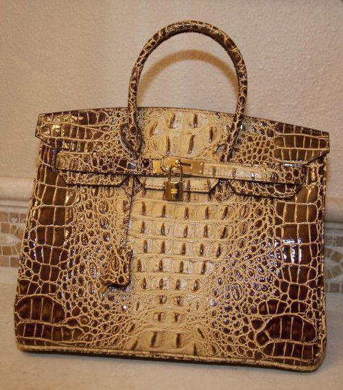 11e98bab98d Sac de Jour Extra Large Crocodile-Embossed Leather Satchel Kelly Bag   leathersatchelhandbags