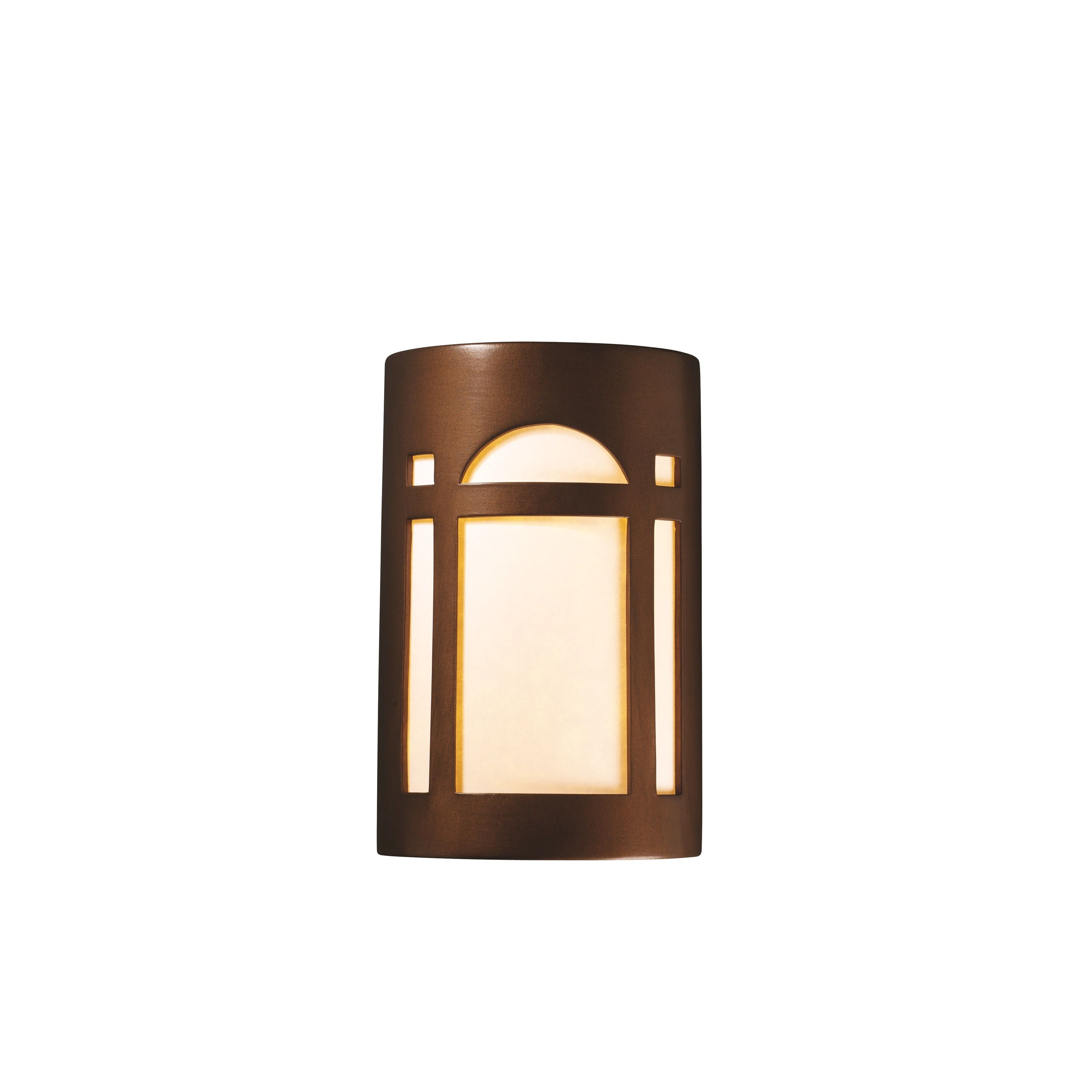 Justice Design Group Ambiance Collection 2-Light Wall Sconce Tierra Red Slate Finish