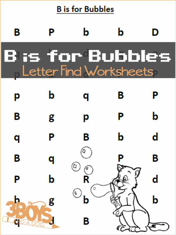 find the letter b is for bubbles free homeschool printables and worksheets homeschool. Black Bedroom Furniture Sets. Home Design Ideas