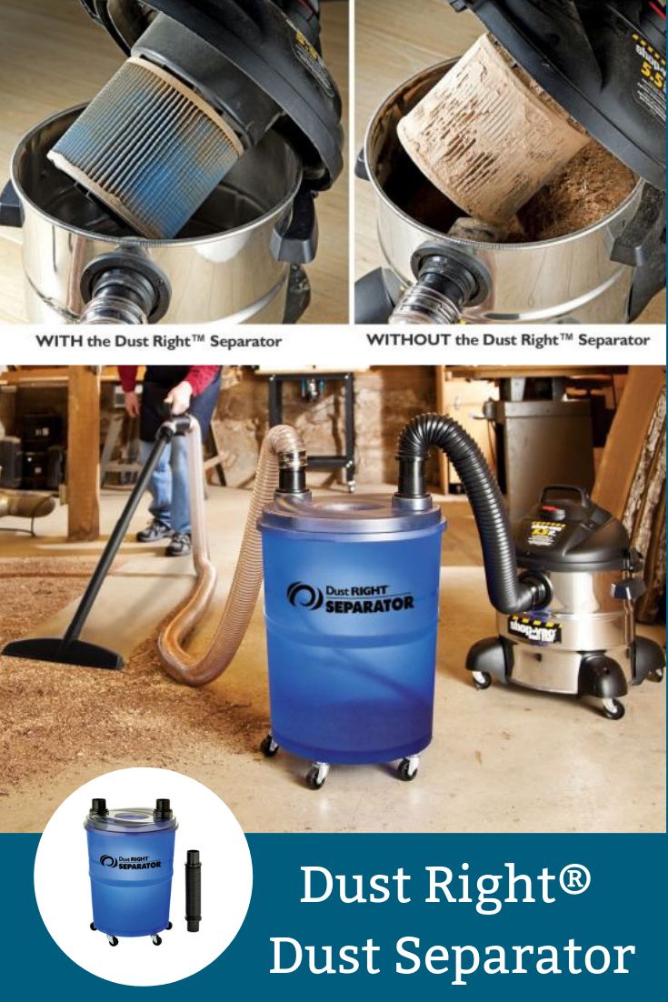 Dust Right Dust Separator Woodworking Shop Layout Woodworking Shop Shop Dust Collection