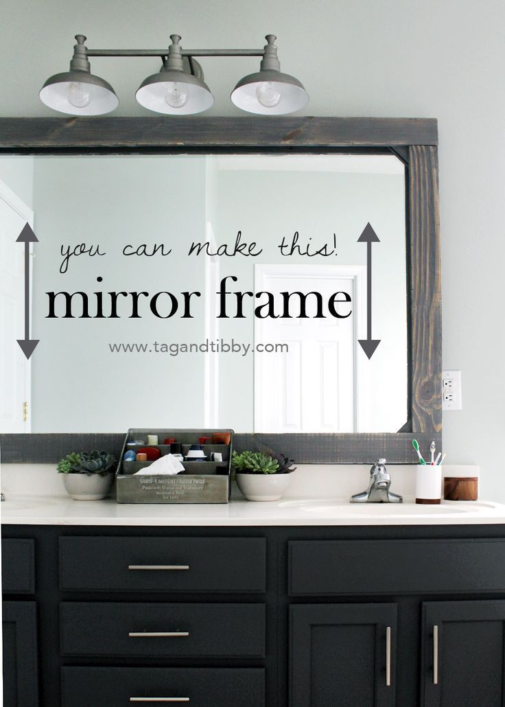 How To Frame A Mirror With Wood Rustic Mirror Frame Bathroom