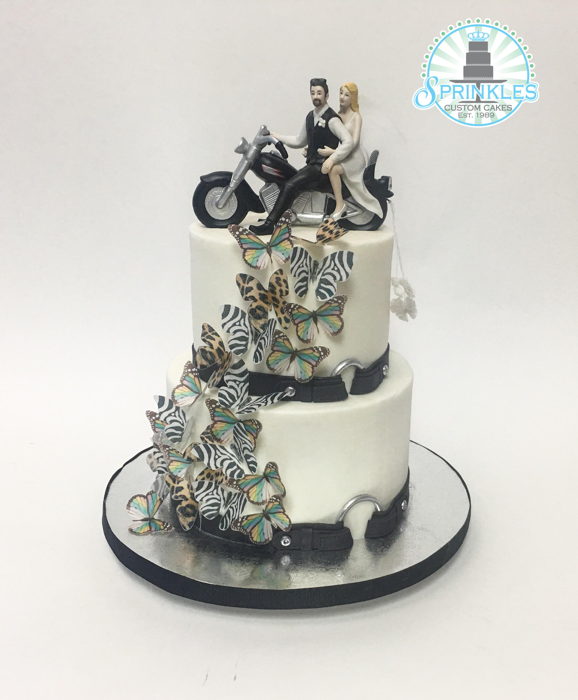 Brilliant Motorcycle Wedding Party Cakes Personalised Birthday Cards Xaembasilily Jamesorg