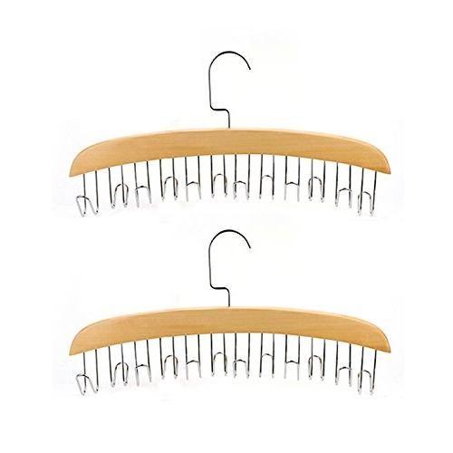 Fashion Hardwood Belt Tie Clost Clothing Accessory Hanger Hardwood Belt Organizer Hanging (burlywood)