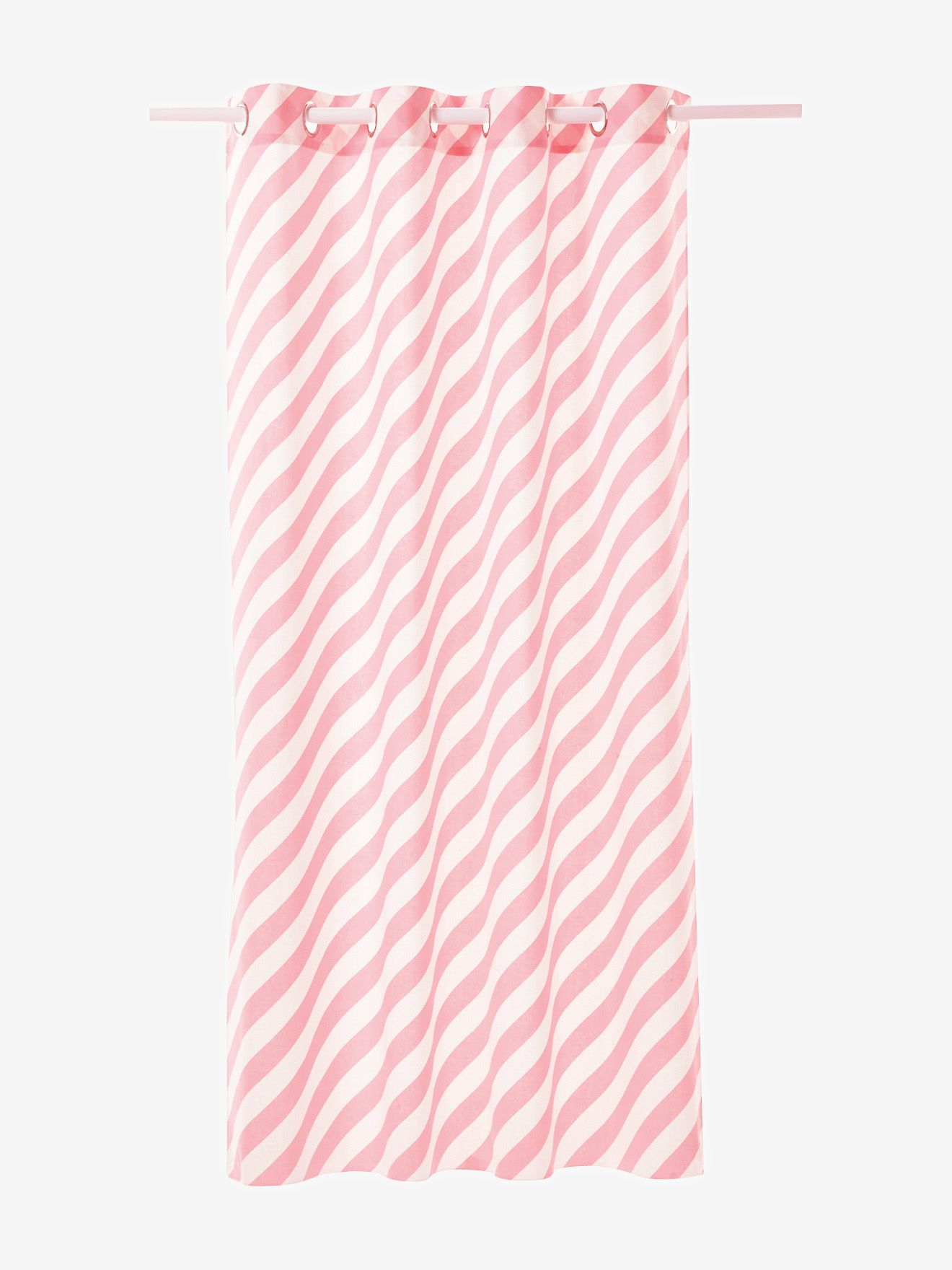 Vertbaudet Gardine Mit Streifen In Rosa Gestreift 135x260 Stuck 16 Rosa Streifen Gardinen Rosa Graue Vorhange