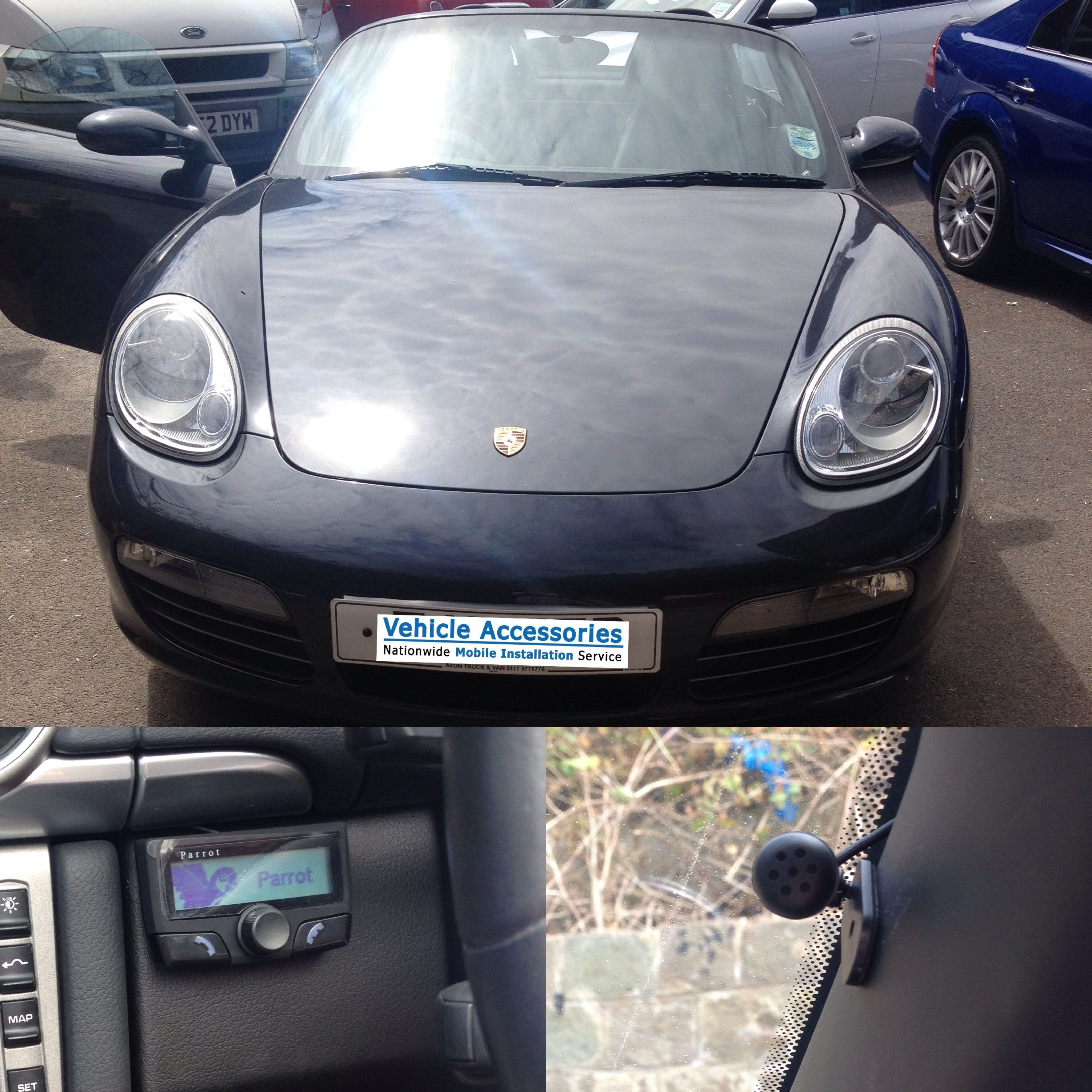 Install of a Parrot CK3100 into a Porsche. https://www.vehicle ...