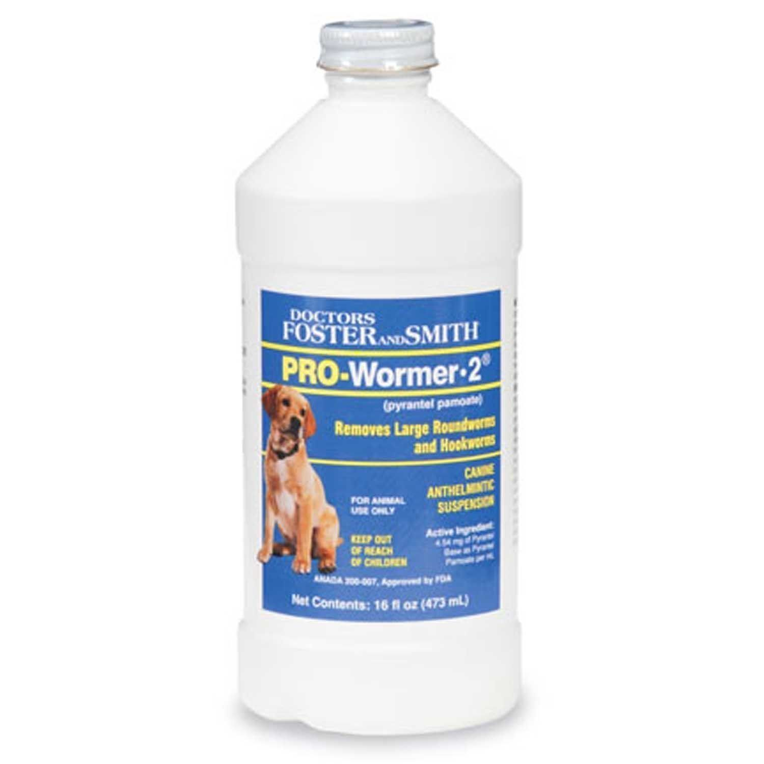 Doctors Foster Smith Pro Wormer Liquid Dog Wormer 2x 16oz 1 Pint By Same Active Ingredient As Nemex 2 Pyrante Deworming Dogs Foster And Smith Dr Foster
