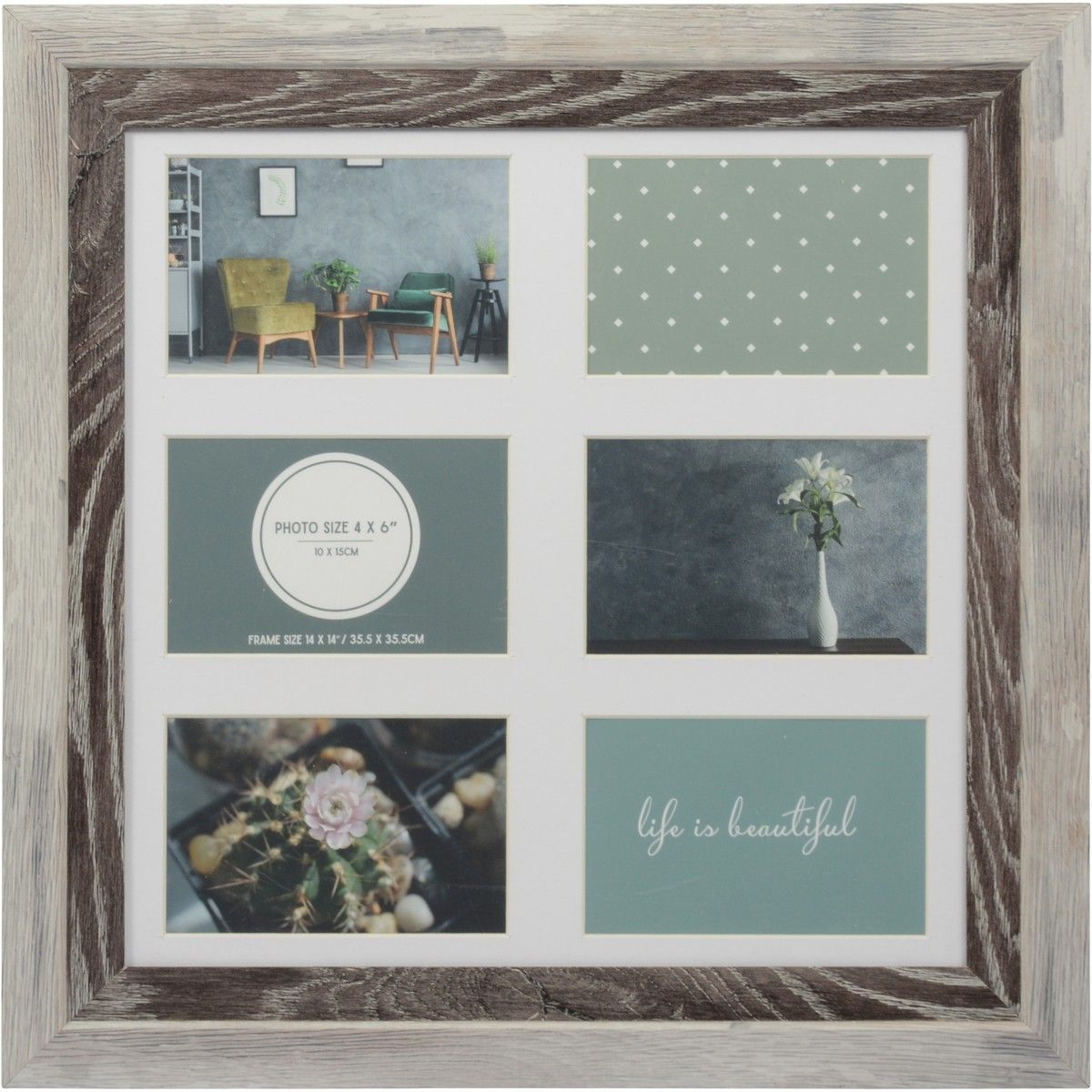 Design House 14 X 14 Inch M5 Photoframe Light Grey Dark Grey Big W Photo Frame Life Is Beatiful House Design