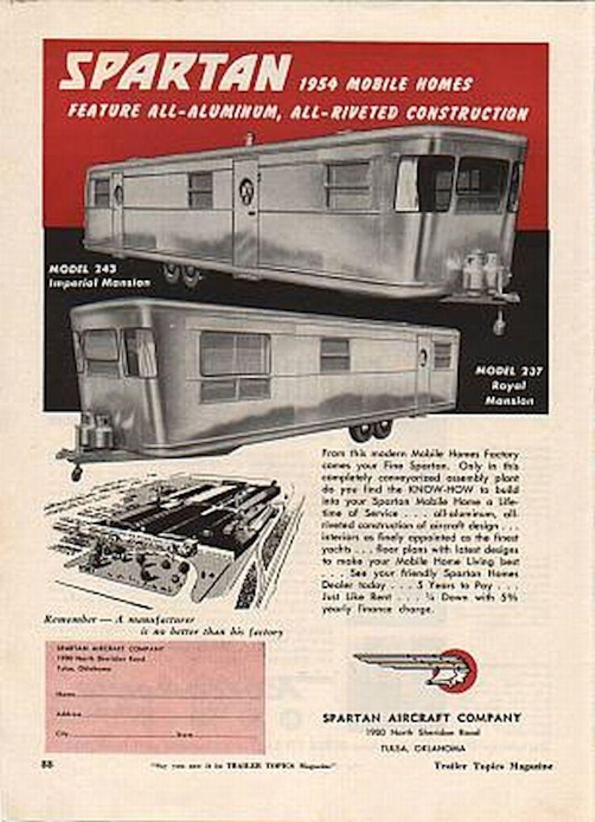 advertising for spartans retro trailers custom trailers retro caravan airstream trailers vintage [ 864 x 1194 Pixel ]