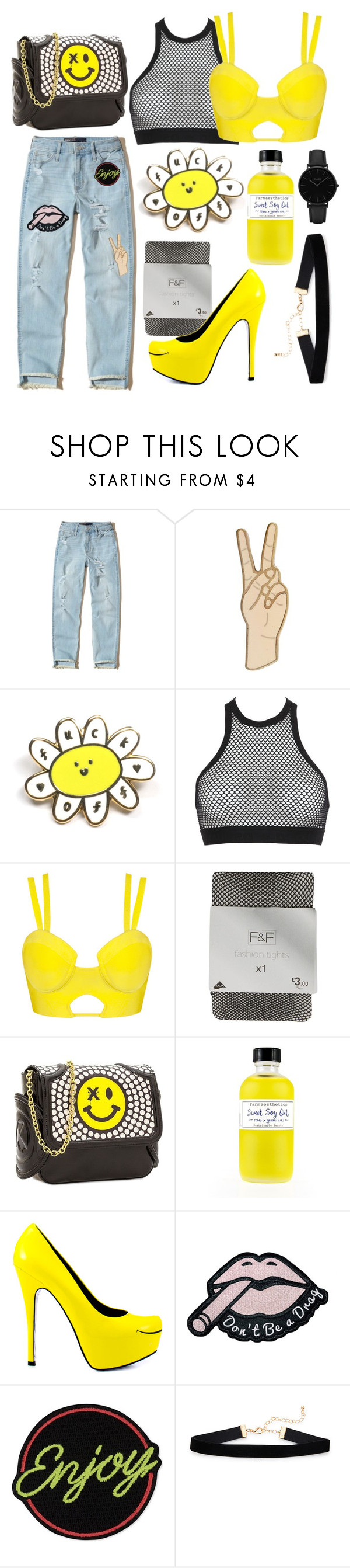 """""""Untitled #60"""" by svccvlent ❤ liked on Polyvore featuring Hollister Co., Lucky Brand, Dsquared2, Thomas Blakk, Farmaesthetics, TaylorSays, Marc Jacobs and CLUSE"""