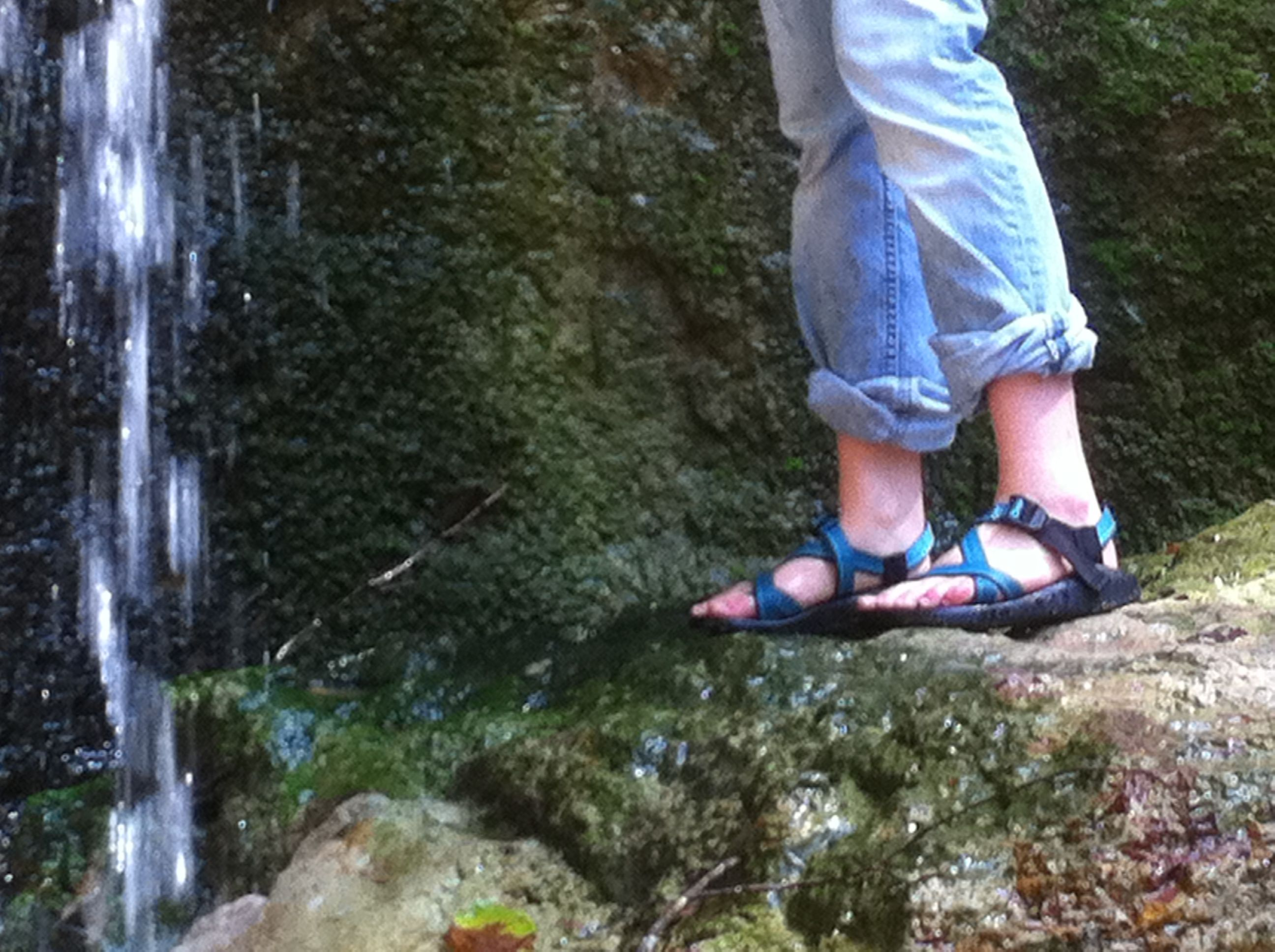 chacos - all purpose shoes and so comfortable. in camp shoes? i can wear these with socks when it's cold too