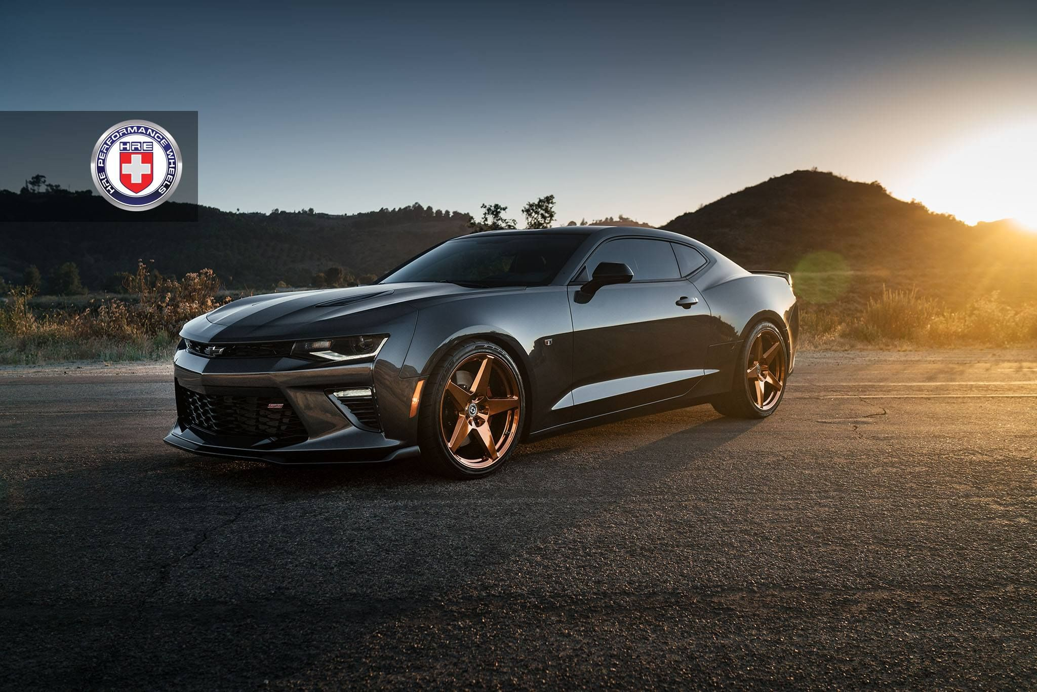 Chevrolet camaro on hre performance wheels in polished copper https www