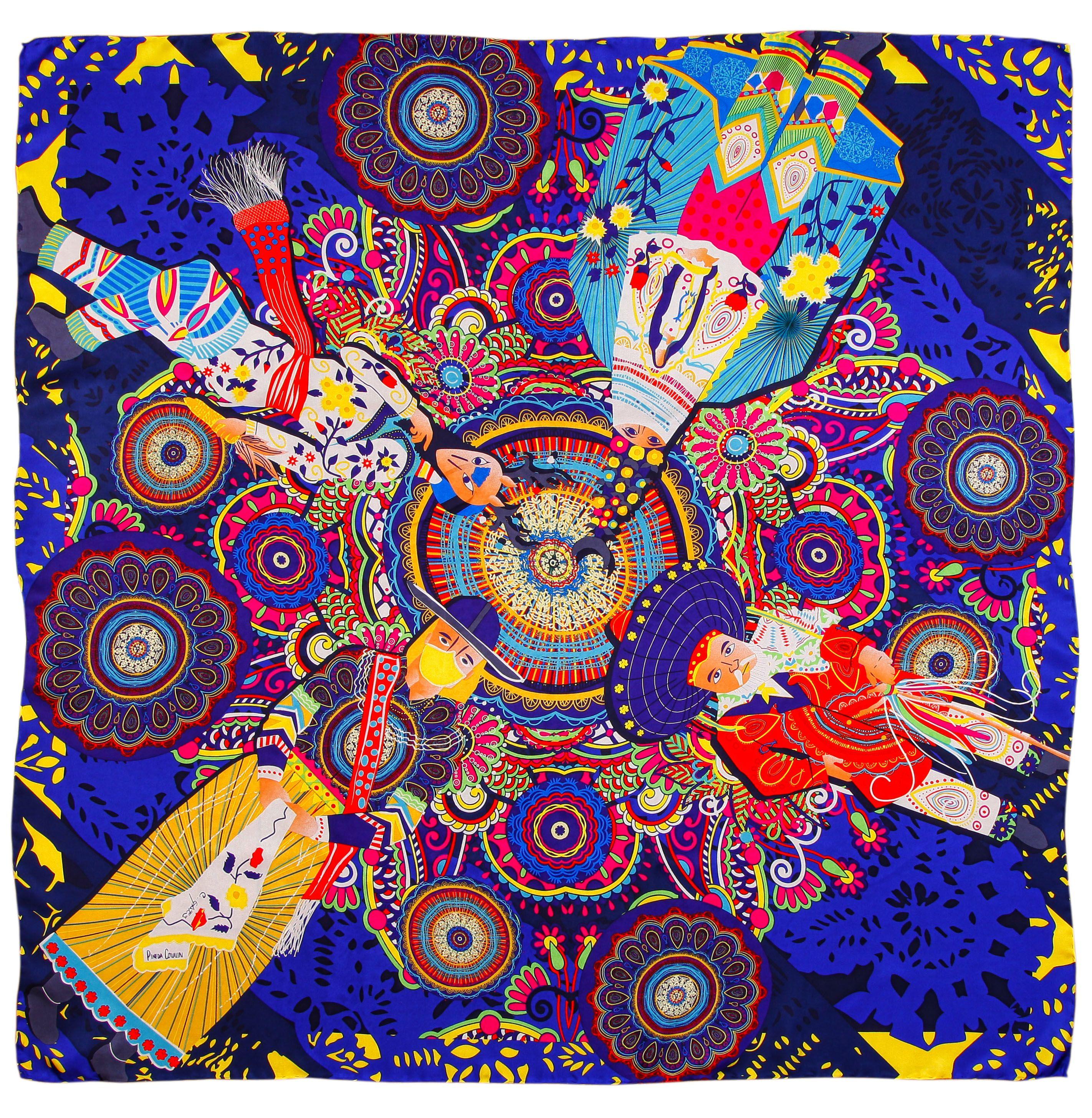 Mascada Bailes Tradicionales Azul