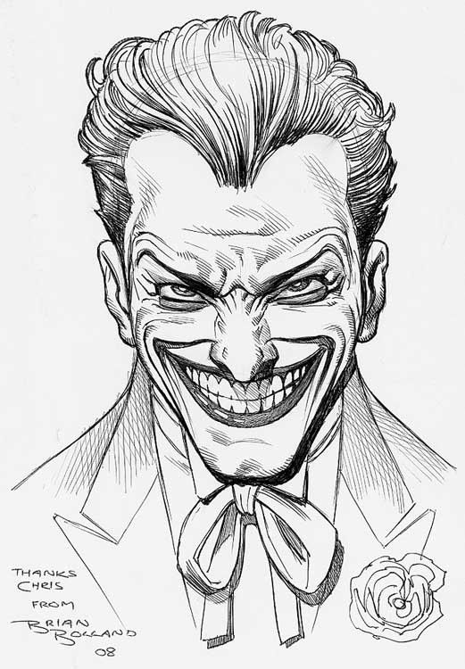 Joker Da Colorare.Artverso Brian Bolland Joker Idee Per Disegnare Illustrazioni Di Joker Arte Dei Fumetti