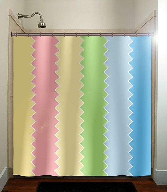 Baby pastel pink green blue easter shower curtain bathroom decor ...