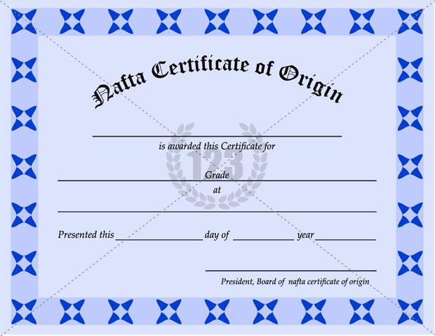 Avail NAFTA Certificate of Origin Template 123Certificate – Example Certificate of Origin