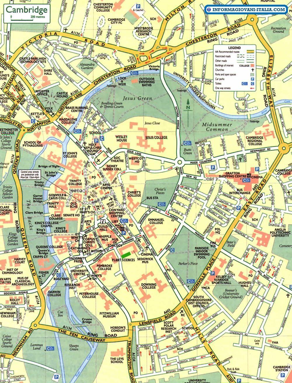 Cartina Stradale Inghilterra