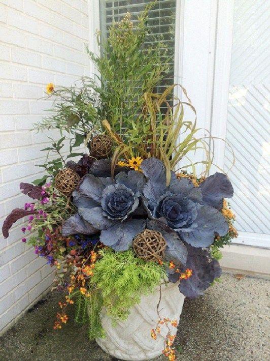 Most Beautiful Fall Planter Ideas 8