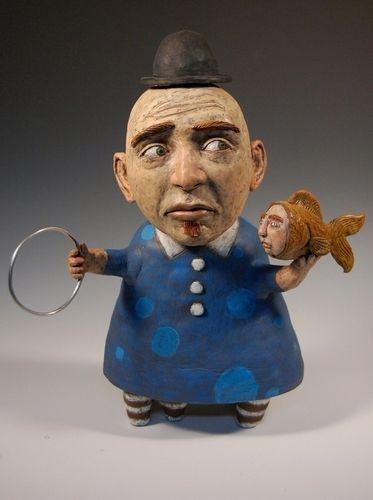 A Laura Lloyd Sculpture Contemporary Folk Art Art Art Dolls