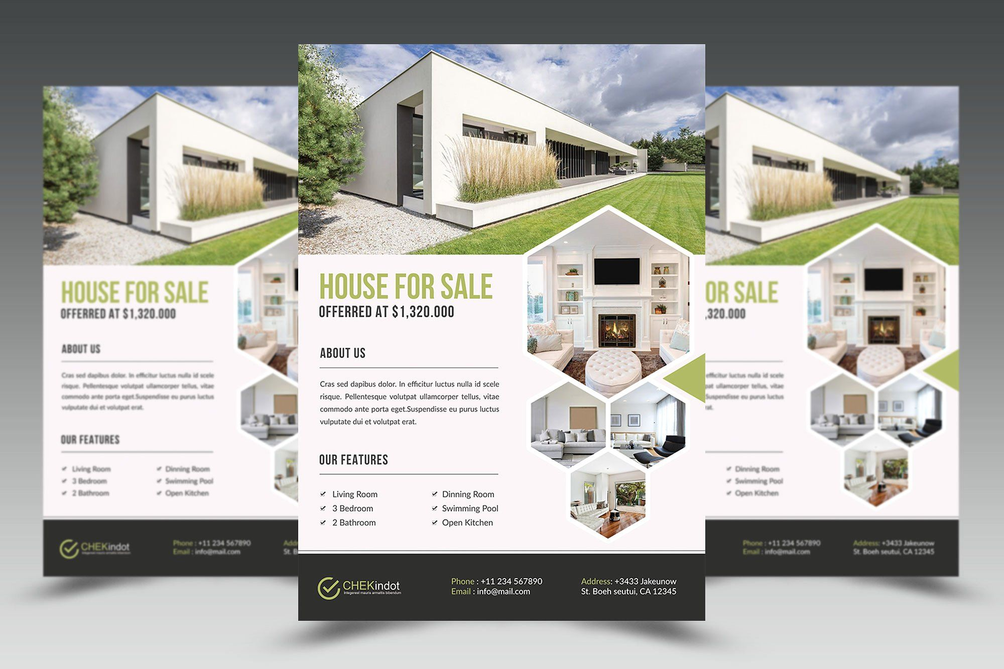 Real Estate Flyer By Graphicidenic On Creativemarket Real
