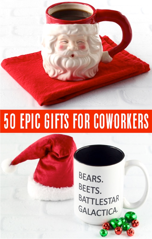 Coworker Gift Ideas! (55 Epic Secret Santa Gifts) - Never Ending Journeys #coworkerchristmasgiftideas