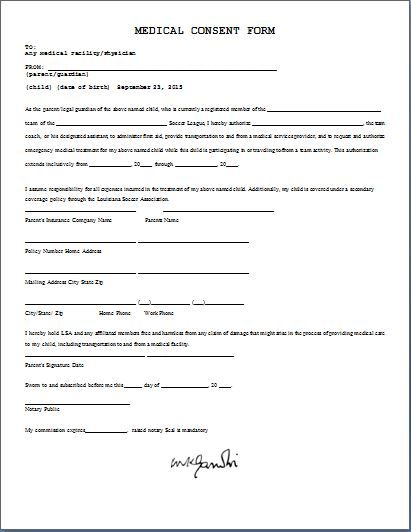 Medical Consent Form Daily Medical Forms Pinterest Parents - hospital admission form template