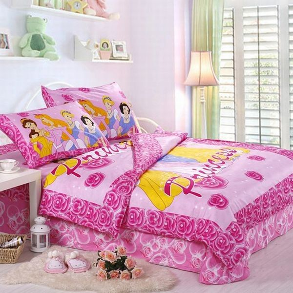 Beautiful princess bed set in lovely pink | Pink teenage bedroom ...