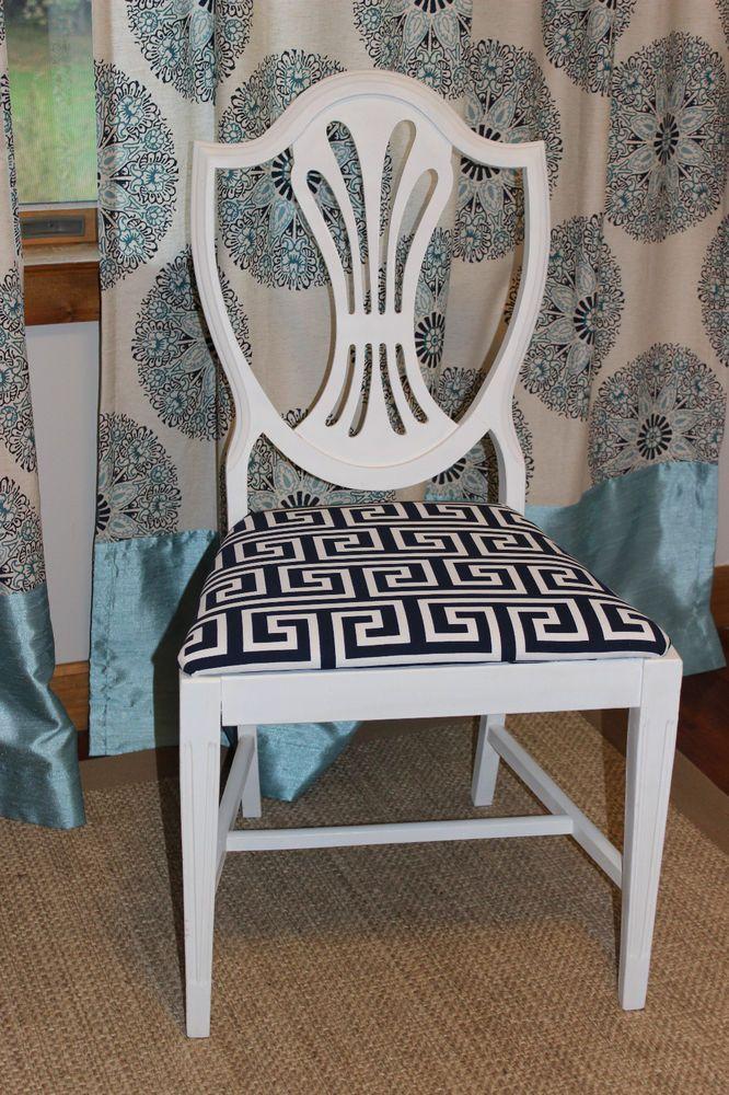 Vintage Shield Back Chair Vintage Shield Back Chair Greek Key