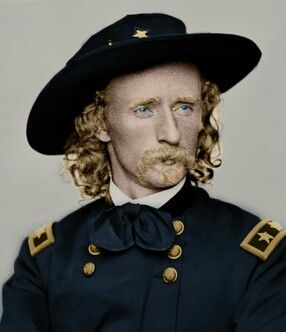Custer. Colorized.