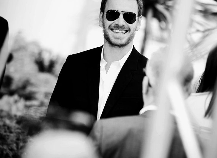 Pin for Later: 30 of the Prettiest Black-and-White Photos From the Cannes Film Festival Michael Fassbender