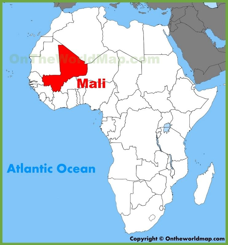 Mali On Africa Map Mali location on the Africa map | Africa map, African map, Map