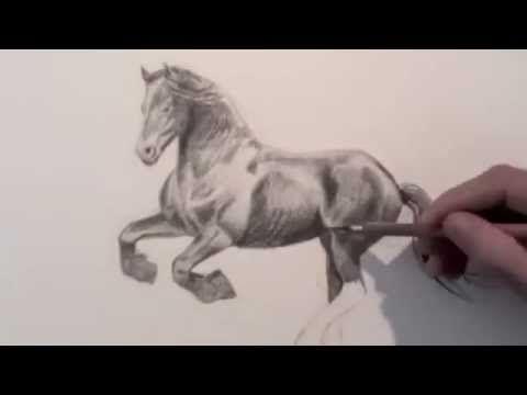wie malt man ein pferd zeichnen lernen youtube. Black Bedroom Furniture Sets. Home Design Ideas