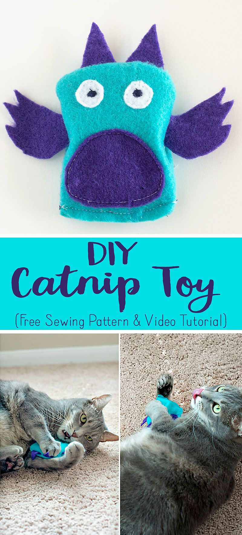 Learn How To Sew A Quick And Easy Catnip Toy For Your Kitty With