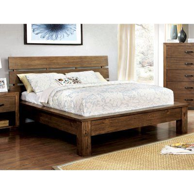 Furniture of America Cervantes Plank Bed, Size: California King - IDF-7251CK