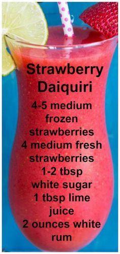 Easy & Fresh Strawberry Daiquiri | The Kitchen Magpie